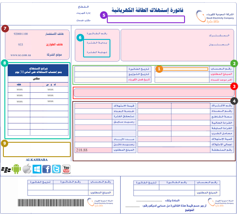 Electricity Company: Saudi Electricity Company View Bill